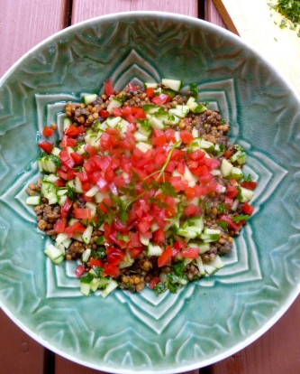 Ketmala's French Lentil Salad © Ketmala's Kitchen 2012-13