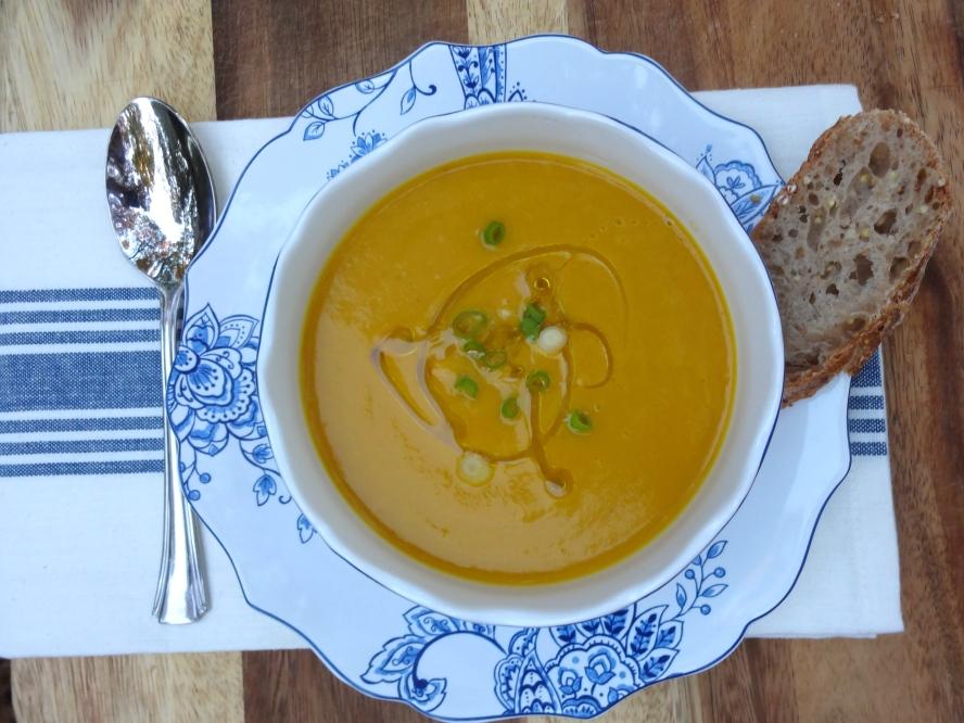 Roasted Butternut Squash Soup © Ketmala's Kitchen 2012