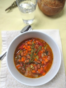 Tuscan Bean Soup © KETMALA'S KITCHEN 2012-13
