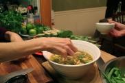 Thai Vegetable Soup with Omelette Chiffonade © KETMALA'S KITCHEN 2012-13