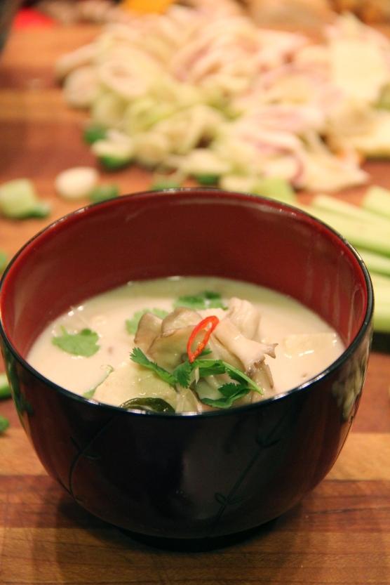 Thai Galangal Mushroom Coconut Soup © KETMALA'S KITCHEN 2012-13