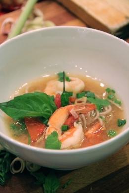 Tom Yum Goong with Buckwheat Soba Noodles (medium) © KETMALA'S KITCHEN 2012-13