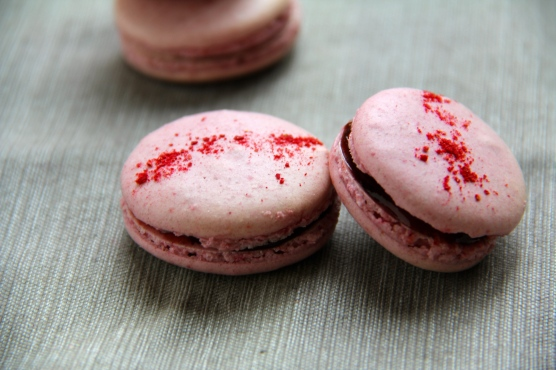 Raspberry Macarons © KETMALA'S KITCHEN 2012-13