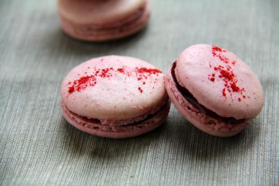 Raspberry Macarons © KETMALA'S KITCHEN 2012-13