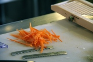 FIne Shreds with a Mandoline © KETMALA'S KITCHEN 2012-13