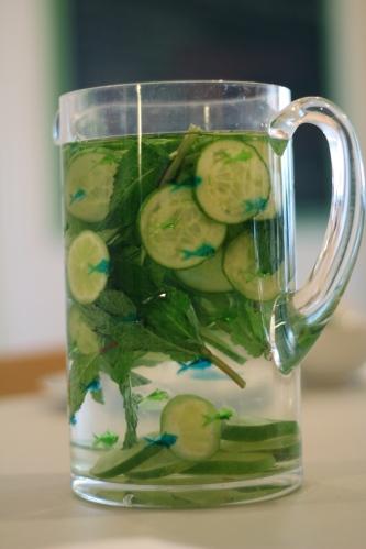 Cucumber Lime Mint Spa Water © KETMALA'S KITCHEN 2012-13