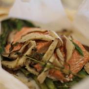 Wild Salmon Asparagus & Shiitakes en Papillote © KETMALA'S KITCHEN 2012-13