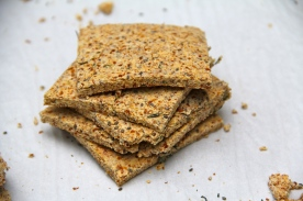 Raw Herbs Almond Crackers © KETMALA'S KITCHEN 2012-13