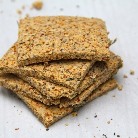 Raw Herbs Almond Crackers © KETMALA'S KITCHEN 2012-13