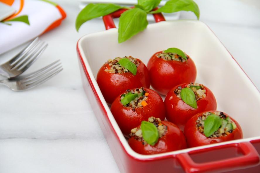 Trio Quinoa Stuffed Tomatoes © KETMALA'S KITCHEN 2012-13