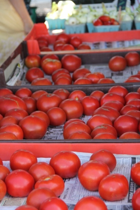 Tomatoes at Growers Market, PA © KETMALA'S KITCHEN 2012-13