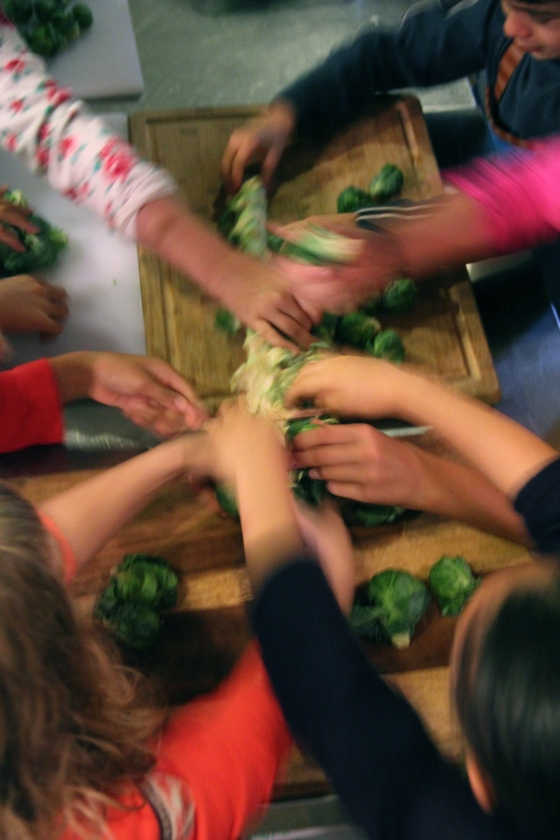 Brussels sprouts around the table!
