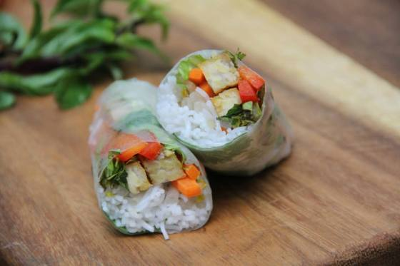 Tempeh Vegetable Spring Roll © KETMALA'S KITCHEN 2014