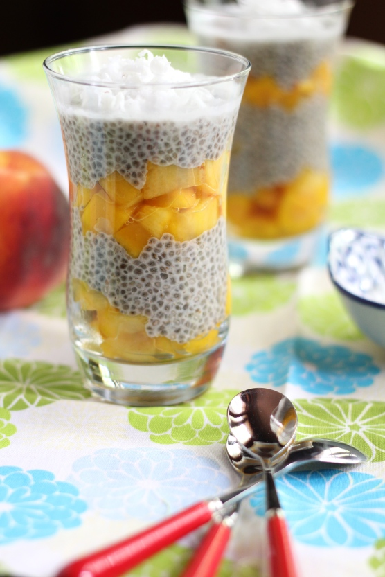 Peachy Chia Pudding @ketmalaskitchen 2015