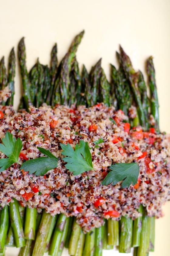 Asparagus with Rainbow Quinoa © KETMALA'S KITCHEN 2014