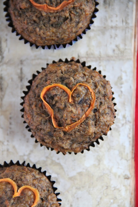 Carrot Flaxseed Muffins (V) © KETMALA'S KITCHEN 2014