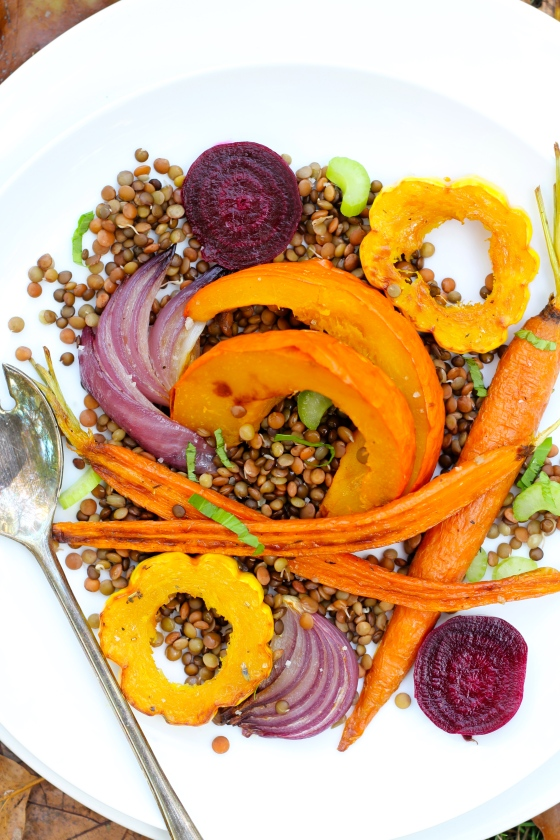 Roasted Autumn Vegetables with Sprouted Lentils @Ketmala's Kitchen 2014