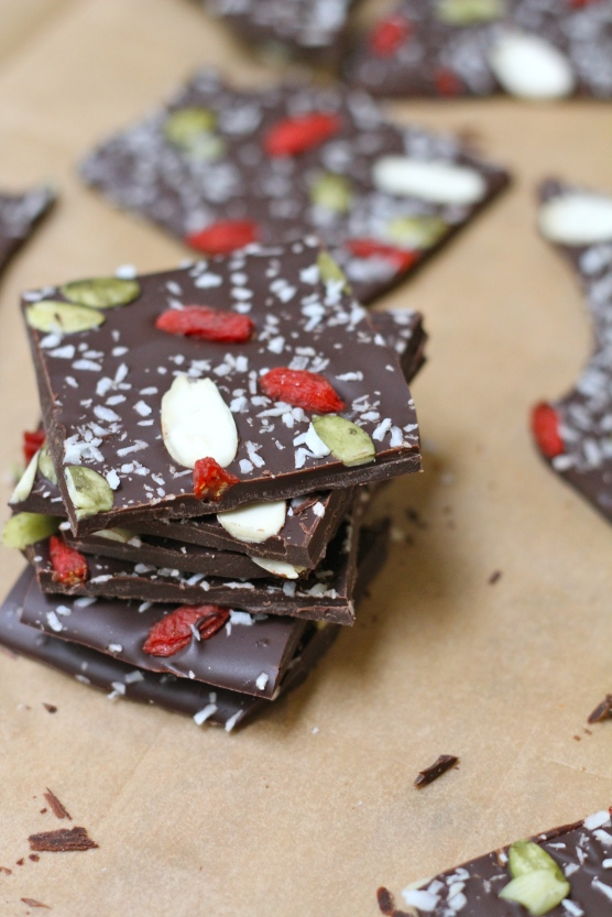 Dark Chocolate Superfood Bark @Ketmala's Kitchen @2014